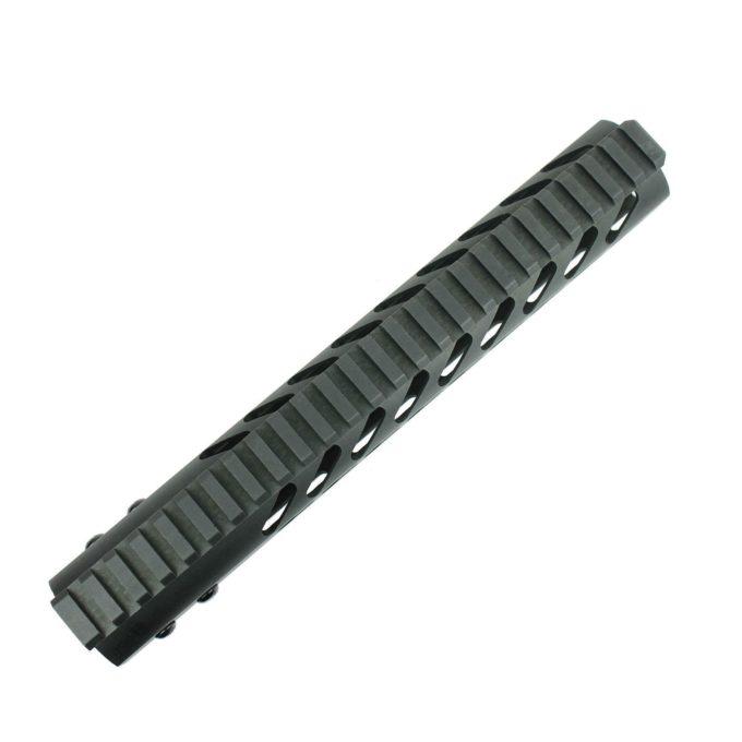 "15"" inch KEYMOD Free Float Quad Rail Slim Handguard w/ Additional Rail Sections"