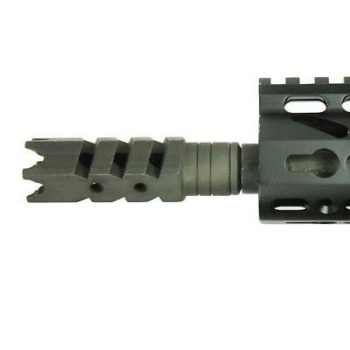 New 308 / .308 5/8x24 TPI Thread Steel Shark Muzzle Brake with Free Crush Washer