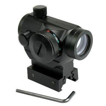 Tactical Reflex Red Green Dot Sight Scope - Dual High - Low Profile Rail Mounts