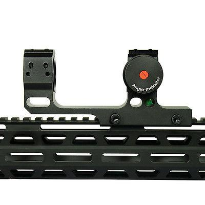 """1""""/30mm Picatinny Cantilever Scope Mount with Angle Indicator and Bubble Level"""
