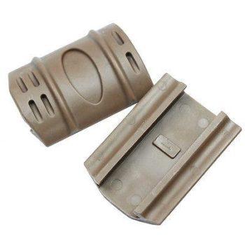 Dark Tan 12 PC Universal Weaver Picatinny Rubber Rail Covers Hand Guard