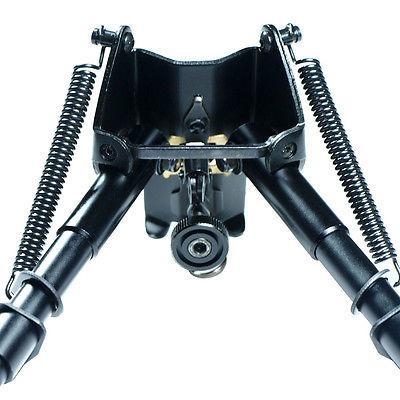"6"" to 9"" Adjustable Spring Return Sniper Hunting Rifle Bipod w/ KeyMod Adapter"