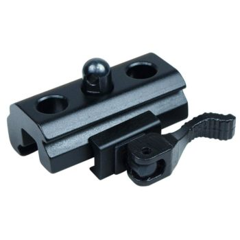 Quick Release QR Harris Style Bipod Sling Stud to 20mm Rail Adapter Black Matte