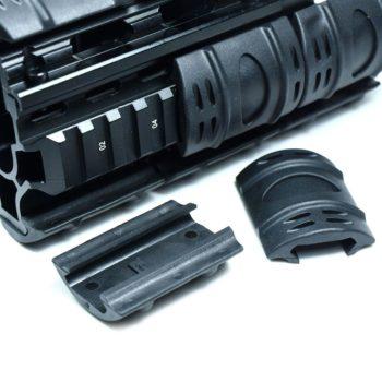 24 PCS Universal 20mm Weaver Picatinny Rubber Rail Covers Hand Guard - Black