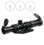 1.5-4X30 Tactical Rifle Scope with RGB illuminated Horseshoe Reticle-PEPR Mount