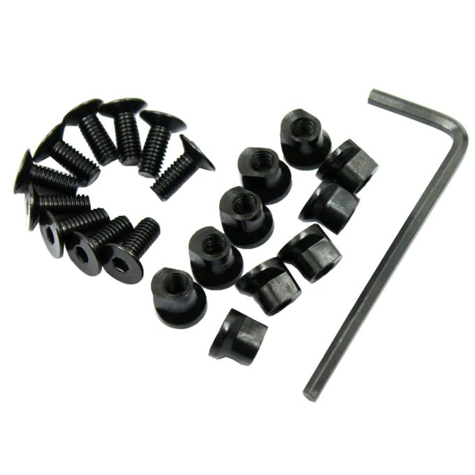 10 Pack KeyMod Screw and Nut Replacement Set for Rail Sections - with Wrench