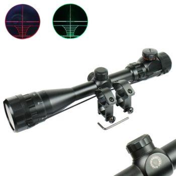 3-9x40 AOEG Hunting Rifle Scope Red Green Dual illuminated Optical Gun Scope