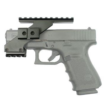 Tactical Pistol Handgun Scope Mount with Weaver Rails for Red Dot Laser Sight