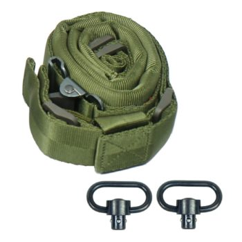 AlienTACS Padded Quick Adjust QD 2 point Rifle Tactical Sling w/ Push-on Swivels