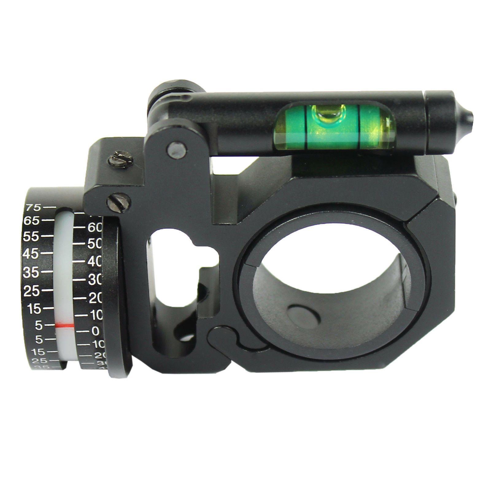 """ADI//ACI 1/"""" to 30mm Ring Angle Degree Indicator Scope Mount W//Bubble Level"""