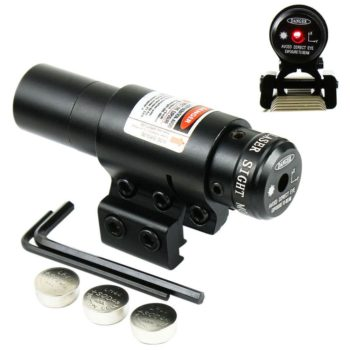 Compact Adjustable Red Dot Laser sight with Mount for 20mm Picatinny-11mm Rails