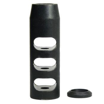 223/.223 5.56 1/2x28 TPI Compact Size Steel Muzzle Brake + Crush Washer - Black