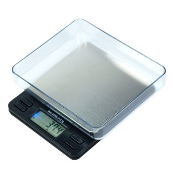 """2000g x 0.1g Digital Precision Scale with 4"""" Platform and Trays - oz g ct gn"""