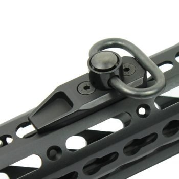 Tactical QD KEYMOD Sling Swivel Mount / Rail Section - Push Button Quick Release