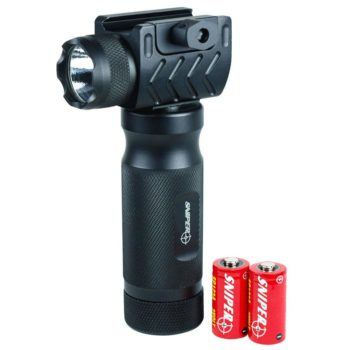 Tactical Vertical Foregrip with High Power CREE LED Flashlight - 20mm Rail Mount