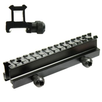 """Tactical See-Thru Flat Top 1"""" Riser Scope Mount for Picatinny Rail"""