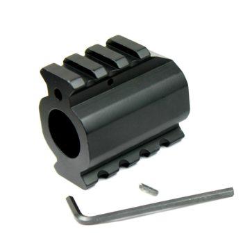 Low Profile Gas Block w/ Top & Bottom Picatinny Rail & Roll Pin for .750 Barrel