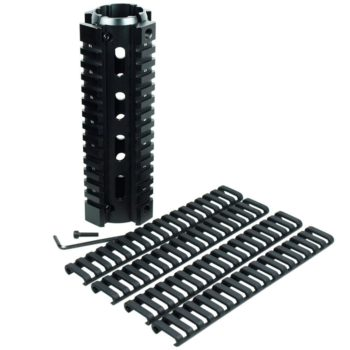 "6.7"" Length Carbine Handguard Picatinny Quad Rail w/ Pack of 4 Ladder Rail Cover"